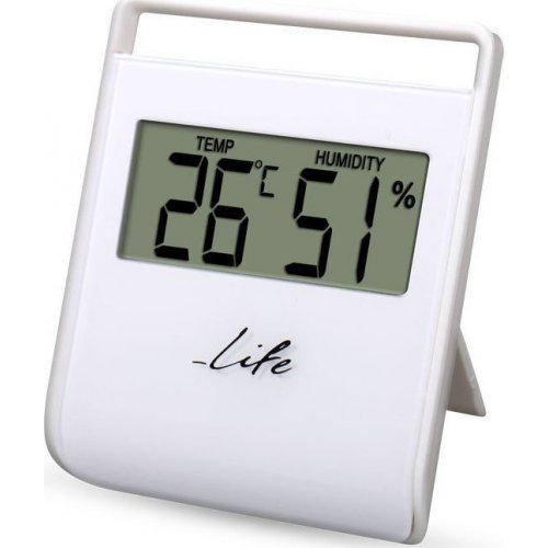 LIFE WES-102 Ψηφιακό θερμόμετρο - Υγρόμετρο Εσωτερικού Χώρου, Λευκό