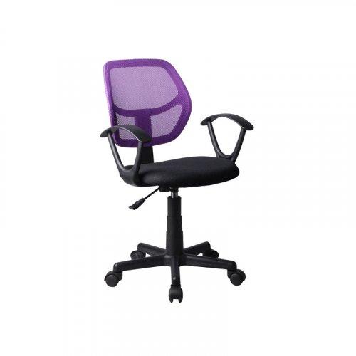 FYLLIANA 5156P 093-27-103 Καρέκλα Γραφείου Μαύρη/Μωβ με Μπράτσα 51*52*80/92Εεκ.