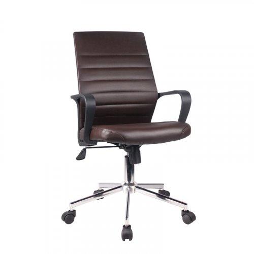 FYLLIANA 5568L 093-27-113 Καρέκλα Γραφείου Καφέ Δερματίνη 57*60*92.5/100