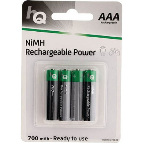 HQ HR03-700 Επαναφορτιζόμενη μπαταρία ΑΑΑ Νi-MH 700 mAh 1.2V Ready to use σε blister 4 μπαταριών 0013283