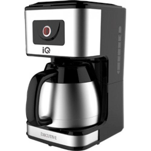 IQ EX-2027 EXECUTIVE Καφετιέρα Φίλτρου με Κανάτα Θερμό Μαύρο/Inox