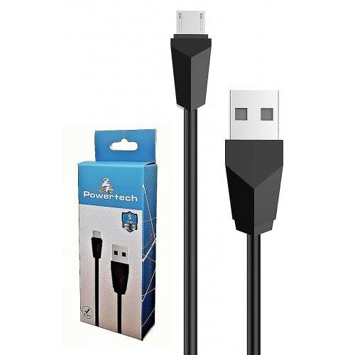 POWERTECH CAB-U081 Καλώδιο USB 2.0 σε Micro USB Type B, 1m, Black 0014562