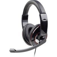 GEMBIRD MHS-001 Στερεοφωνικά Ακουστικά με Γυαλιστερή Επιφάνεια Μαύρο