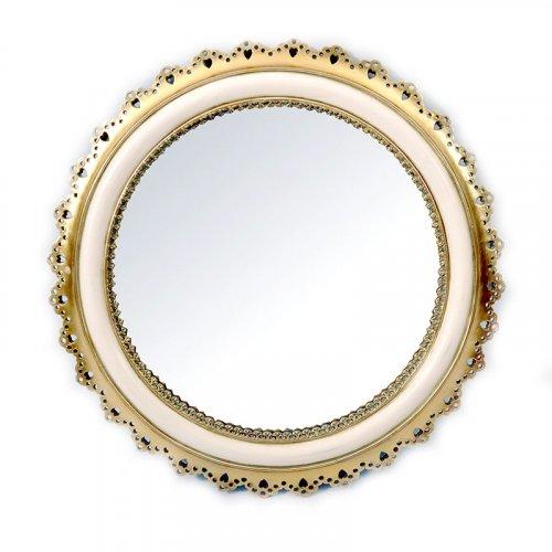FYLLIANA LF15269-12A2 253-16-386 Καθρέφτης Τοίχου Χρυσό-Μπεζ 33εκ. 0009307