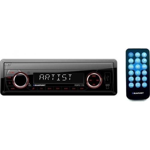 BLAUPUNKT Porto 170  Ράδιο Αυτοκινήτου AUX/SD Card/USB με Χειριστήριο & Κόκκινο Χρωματισμό Πλήκτρων 0015462