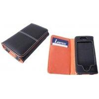 LAMTECH LAM050202 I-Phone Δερμάτινη Θήκη Μαύρο-Πορτοκαλί