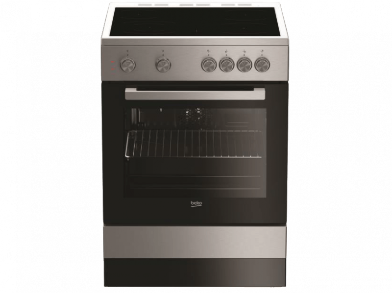 BEKO FSM 67010 GX Ηλεκτρική Κουζίνα με Κεραμική Εστία 66lt - 60cm Inox