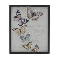 INART 3-90-242-0116 Πίνακας Ξύλινος Πεταλούδες 40 x 2 x 48 εκ