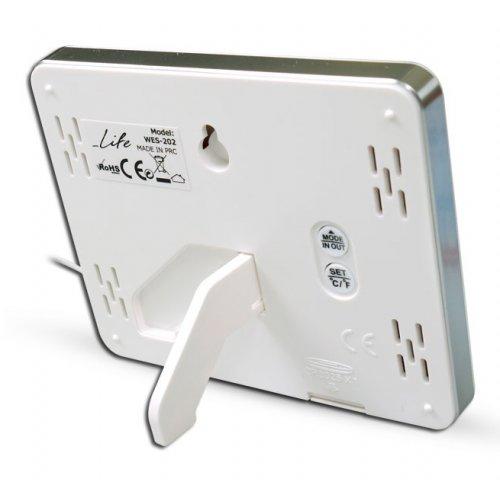 LIFE WES-202 Ψηφιακό Θερμόμετρο Εσωτερικής & Εξωτερικής Θερμοκρασίας Λευκό