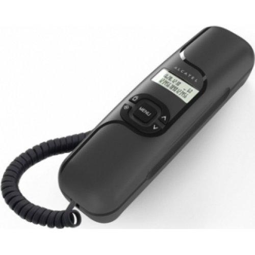 ALCATEL T16 Τηλέφωνο Ενσύρματο Γόνδολα Μάυρο με Αναγνώριση Κλήσης