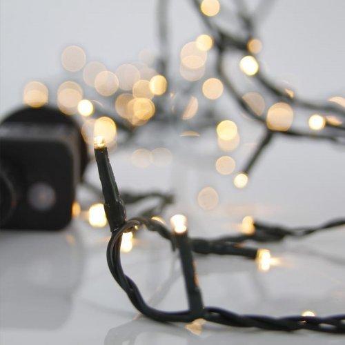 EUROLAMP 600-11531 240 Χριστουγεννιάτικα Λαμπάκια Θερμό Λευκό LED ανά 5εκ. IP44 σε Σειρά με Πρόγραμμα 0016837