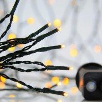 EUROLAMP 600-11541 300 Χριστουγεννιάτικα Λαμπάκια Θερμό Λευκό LED ανά 5εκ. IP44 σε Σειρά με Πρόγραμμα 17,95 ΜΕΤΡΑ
