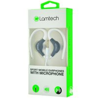 LAMTECH LAM020229 Sport Mobile Earphones with Mic White