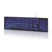 GEMBIRD KB-UML3-01 3-Color Backlite Keyboard Black