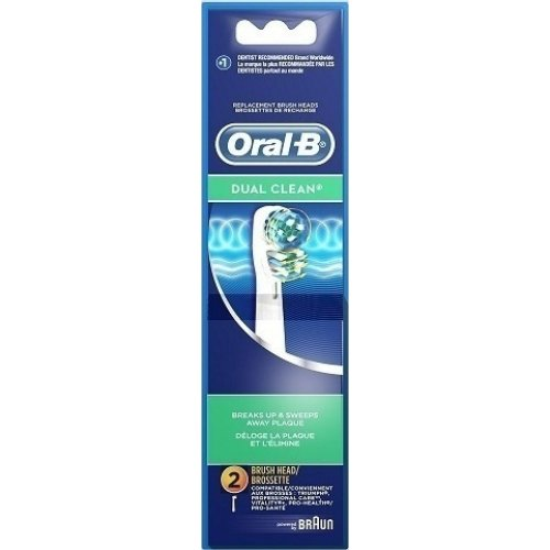 BRAUN ORAL-B EB417-2 DUAL CLEAN Ανταλλακτικά Οδοντόβουρτσας 2 τμχ