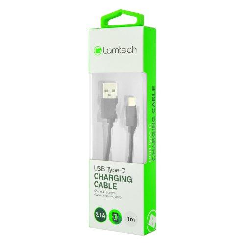 LAMTECH LAM442911 Datacable Type C 1m Black 0017420