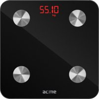 ACME SC101 Ζυγαριά Μπάνιου Smart Scale Μαύρο