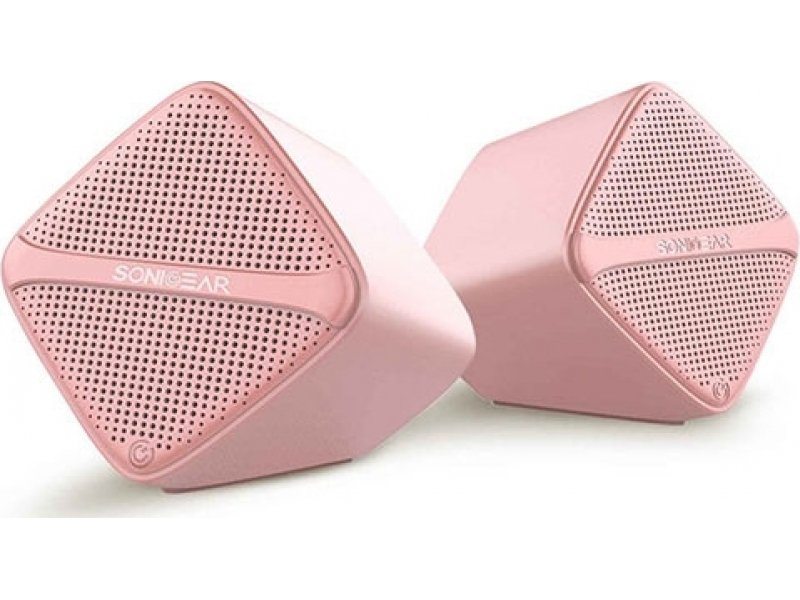 SONIC GEAR SCUBEP Speakers USB Digital AMP + Micro Driver Peach