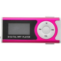 LAMTECH LAM020137 Digital MP3 Player 16GB With FM Radio Fuchsia
