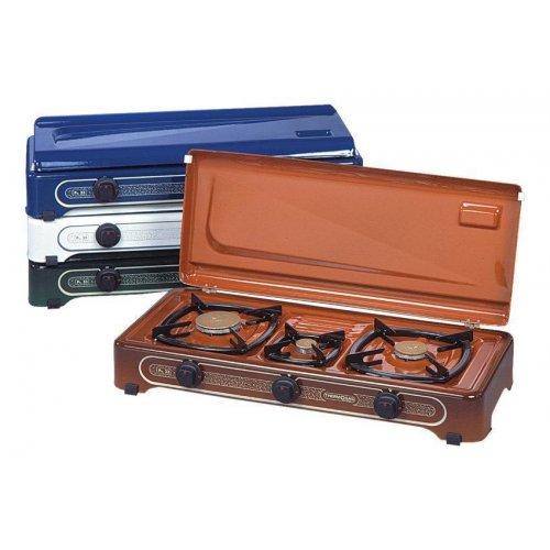 THERMOGAS Pn33 Συσκευή Υγραερίου Λευκή 3 Εστίες 012009