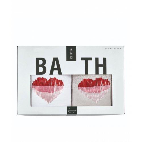 KENTIA Valentine 0022 Σετ 2 Τεμ Πετσέτες Προσώπου 50 x 90