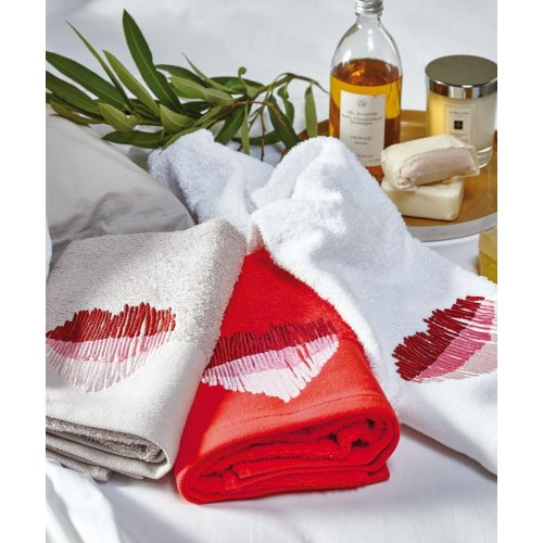 KENTIA Valentine 2217 Σετ 2 Τεμ Πετσέτες Προσώπου 50 x 90